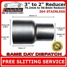 "3"" to 2"" Stainless Steel Flared Exhaust Reducer Connector Pipe Tube"