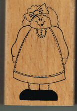 Country girl bois dos rubber stamp-Approc 4.5 x 7.5 cm