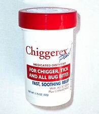 CHIGGEREX PLUS! MEDICATED OINTMENT 1.75 oz For Chigger/Tick/Bug Bites Aloe  NEW