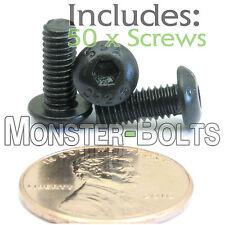 4mm x 0.70 x 10mm - Qty 50 - BUTTON HEAD Socket Cap Screws - 12.9 Alloy Steel M4