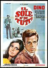 IL SOLE E' DI TUTTI MANIFESTO CINEMA TARANTELLI MUSICARELLO 1968 MOVIE POSTER 4F