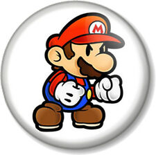 "Super Mario 25mm 1"" Pin Button Badge Video Game Computer Nintendo Brothers Bros"