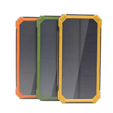 Green 50000mAh Solar Power Bank 2 USB 6 LED External Battery Charger For Iphone6