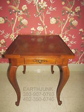 Baker Furniture French Collection End Rectangular Lamp Side Table One Drawer