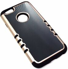 "for iPhone 6/6S (4.7"") SLIM Gray Back Plate Black Rubber Hybrid Armor Skin Case"