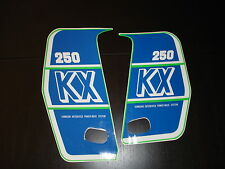 1989 KAWASAKI KX 250 RADIATOR SHROUD DECAL KIT AHRMA VINTAGE MOTOCROSS