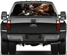 Gadsden US Old Flag Weatherby Rifles Eagel  Rear Window Graphic Decal  Truck Van