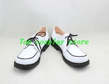 anime Rosario and Vampire Shirayuki Mizore PU Leather Cosplay Shoes boots shoe