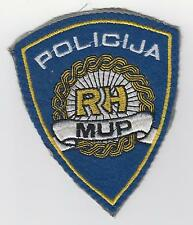 Old vintage patch - REPUBLIC of CROATIA  REGULAR POLICIJA MUP RH sleeve patch !