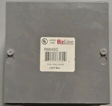 "Bizline or  Rexel R664SC 6x6x4"" junction pull box new surplus"