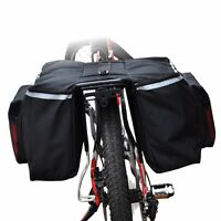 Waterproof Bike Bicycle Cycling Rear Seat Double Panniers Bags Trunk Rack Pouch