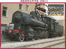 ITALIA MAXIMUM MAXI CARD GIORNATA DEL FERROVIERE 1992 REGGIO CALABRIA C552