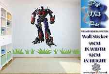 Transformers Optimus Prime Wall Art Sticker Children's Bedroom décor Extra large