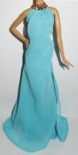 DRESS ONLY ~BARBIE DOLL LOOK POOL CHIC LENGTH BLUE EVENING GOWN FITS MODEL MUSE