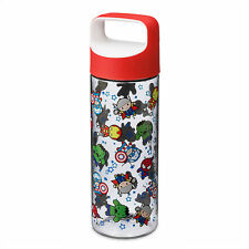 Disney Store Marvel Avengers Super Hero MXYZ Twist Top Water Bottle Cup 14oz NEW