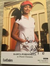 6x4 Hand Signed Photo of Eastenders Preeti Choraria - Babita Pohoomull