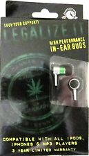 CANNABIS-Legalize It-Section 8-IN-EAR BUDS-HIGH PERFORMANCE HEADPHONES-Brand New