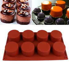 8 Holes Round Shape Silicone 3D Handmade Soap Jelly Pudding Mini Muffin Mold