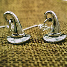 Harry Potter Witches Sorting Hat Witch Silver Plated Drop Earring gift 2 pair