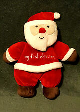CARTERS CHILD OF MINE rattle PLUSH SANTA CLAUS MY FIRST CHRISTMAS BABY TOY LOVEY
