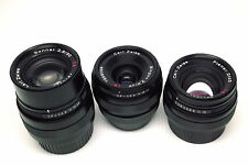 Contax G Zeiss 28 45 90 black lenses in Leica M mount