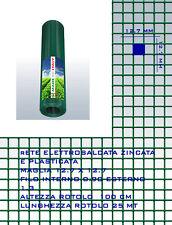 RETE METALLICA PLASTIFICATA ANTITOPO GABBIE ELETTROSALDATA 12 x12 1.3mm CM 100