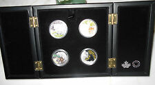 2015-2016 Canada Baby Animal Set 4 coins $20 1oz pure silver Exclusive Box