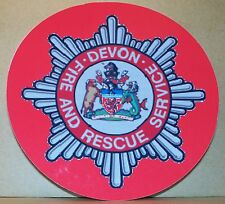 Fire and Rescue Service Devon vinyl sticker personalised..