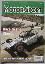 Motor Sport Magazine 10/1992 featuring Ford Escort RS Cosworth, Porsche, Renault