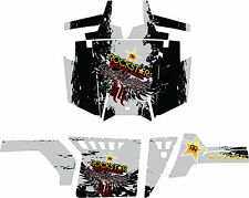 RACING DECALS GRAPHICS KIT 2011 to 13 POLARIS RANGER RZR 800 pro doors rock star