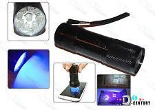 9 LED Ultra Violet UV Light Flashlight Lamp for LOCA Glue Curin Samsung Apple LG