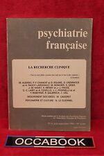 Psychiatrie française - La recherche clinique - Livre - Occasion