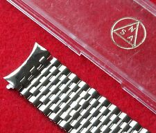 Vintage watch NSA band Swiss polished steel beads curved 18mm ends NOS 1960s/70s