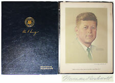 Norman Rockwell Signed Lithograph of John F. Kennedy