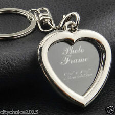 Heart Shape Photo Frame Key Chain.Chrome Plated Steel . An Ideal Gift .