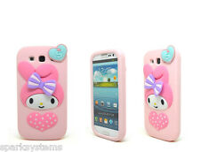 New Cartoon 3D Kitty Melody Rabbit Silicone Case for Samsung Galaxy S3 / S4 / N2