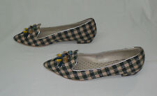 Boden Women's Embellished Plaid Slipper Flats Shoes Size Euro 40 / US 9