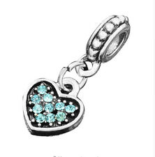 hot European Silver CZ Charm Beads Fit sterling 925 Necklace Bracelet Chain jc9m