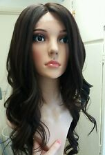 Glamorous, Human Hair Wig, Real Hair, Hair Blend, Brunette, Brown, lace front