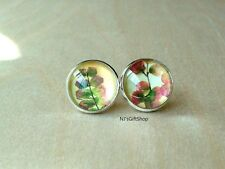 Flabelate Maidenhair - plant flora stud earring ,Beautiful gift for her