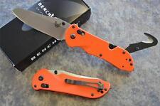 Benchmade 915-ORG Triage Rescue Knife w/ Seatbelt Hook & Glass Breaker Tip