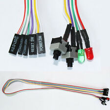 New PC ATX Power Supply Reset Switch Cable with Led Lights