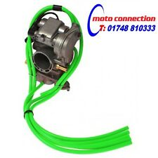 5 PIECE MBO SPORT CARBURETTOR CARB HOSE KIT - GREEN KAWASAKI KX80 KX85 KX100