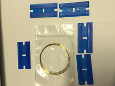 Molybdenum  Wire 2M 0.11mm, 5 Plastic Razor Blade FITS Samsung Htc iPhone
