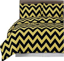 Chevron 100% Cotton Elegant Printed 3PC Colored Duvet Cover Set