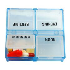 Borinhalbich Peek-A-Box 4 Compartment Pill Box Organizer - 4 Times Daily Pillbox