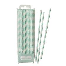 Lace Nuovo di zecca Green & White Stripe A Righe A strisce carta festa cannucce Confezione da 30
