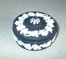 Wedgwood Jasperware Black Small Vine Candy Box