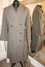 Dunn & Co 1940s green trench coat - Ditsy Vintage - Size 44 46 Wartime WW2 era