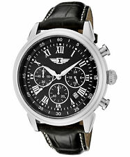I By Invicta Men's 90242-001 Chronograph Stainless Steel Black Dial Watch